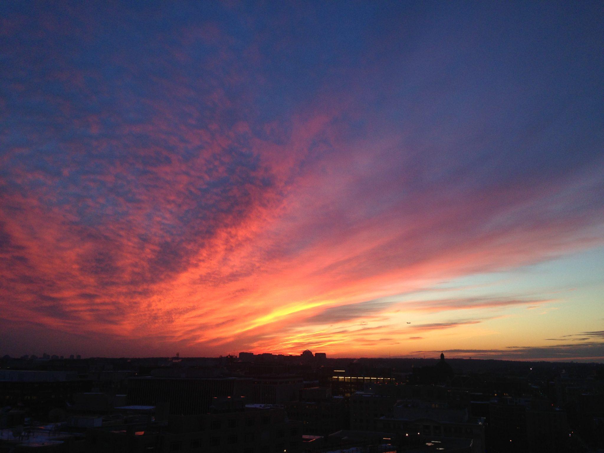 Friday Favorites - beautiful DC sunset