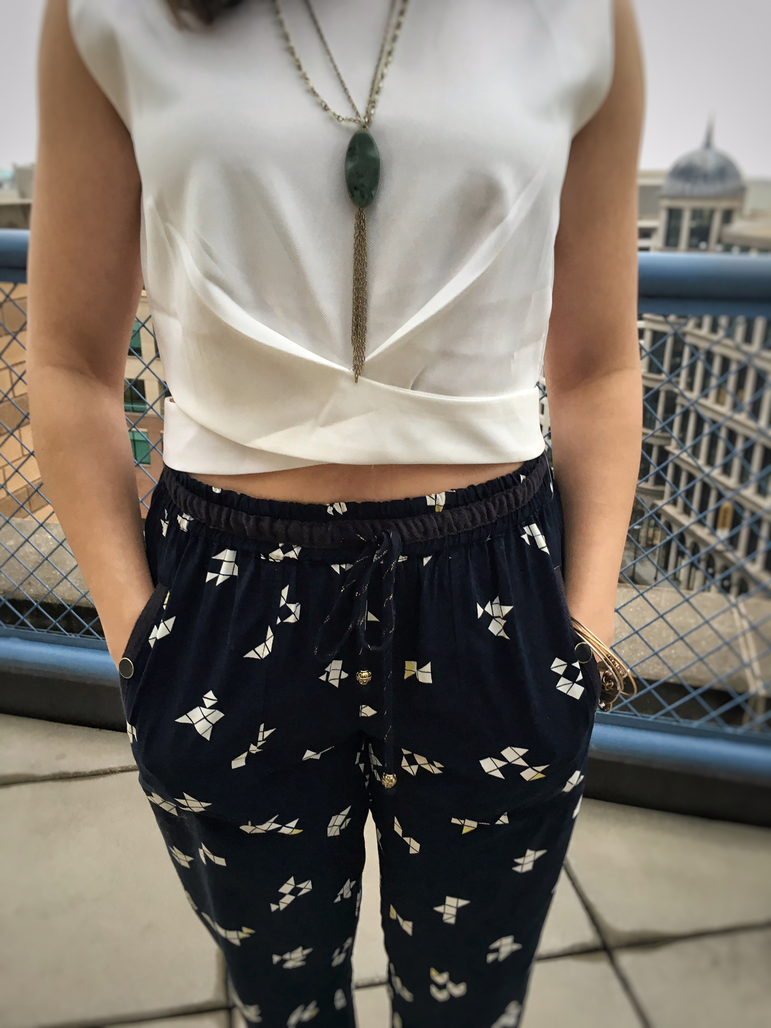 glass of glam - printed pants