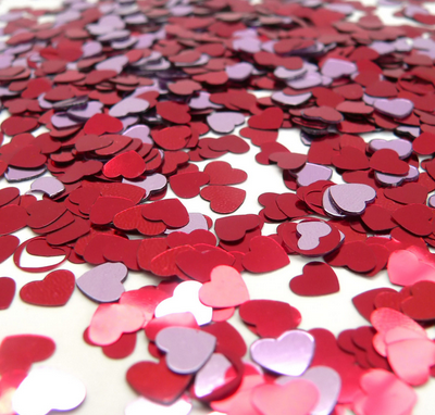 friday favorites heart confetti