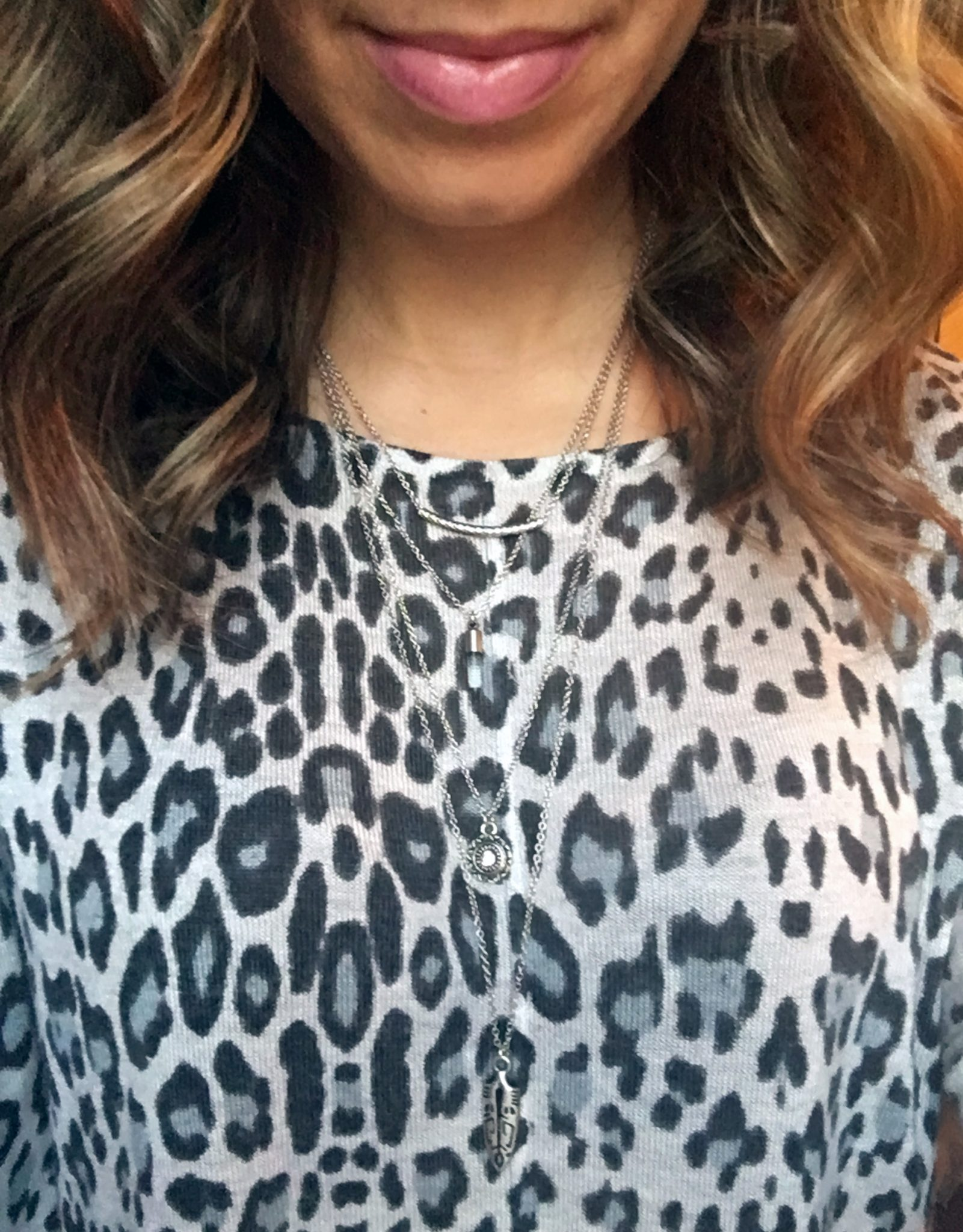 glass of glam leopard tunic