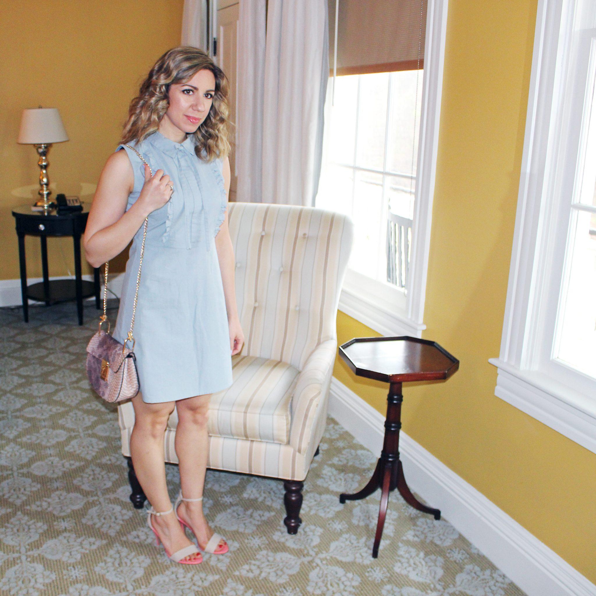 glass of glam - frill dress