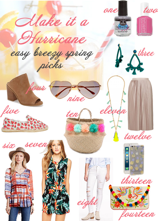 Glass of Glam - spring hurricane shopping