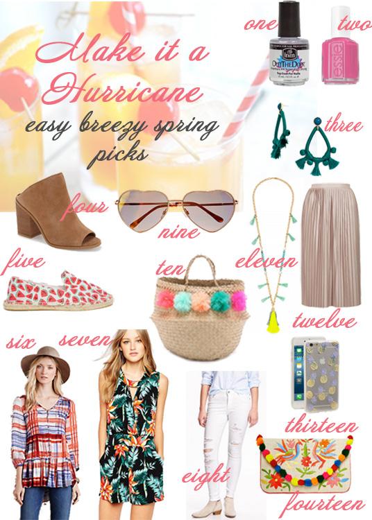 Glass of Glam - spring hurricane shopping
