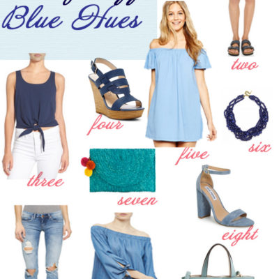 Glass of Glam Friday Fizz Blue Hues