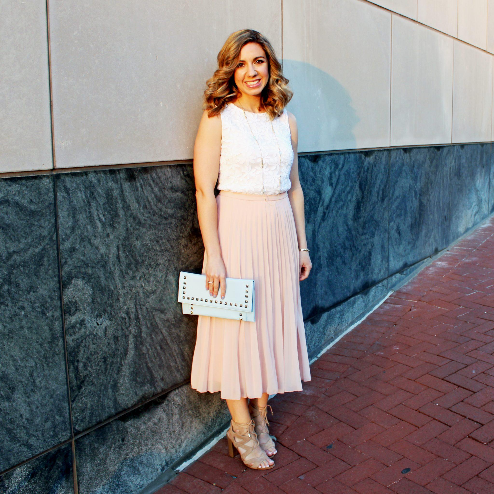 glass of glam - pleated midi skirt