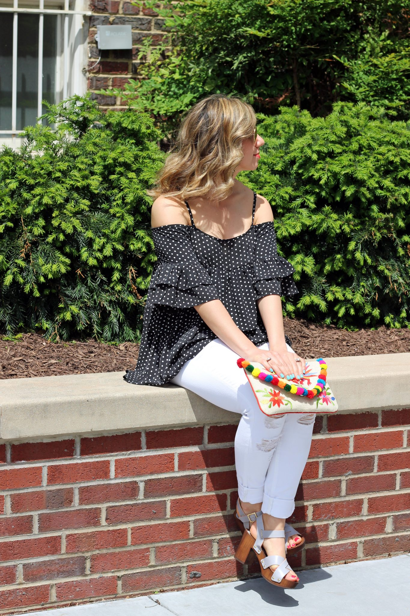 Cold Shoulder Ruffle Top | Glass of Glam