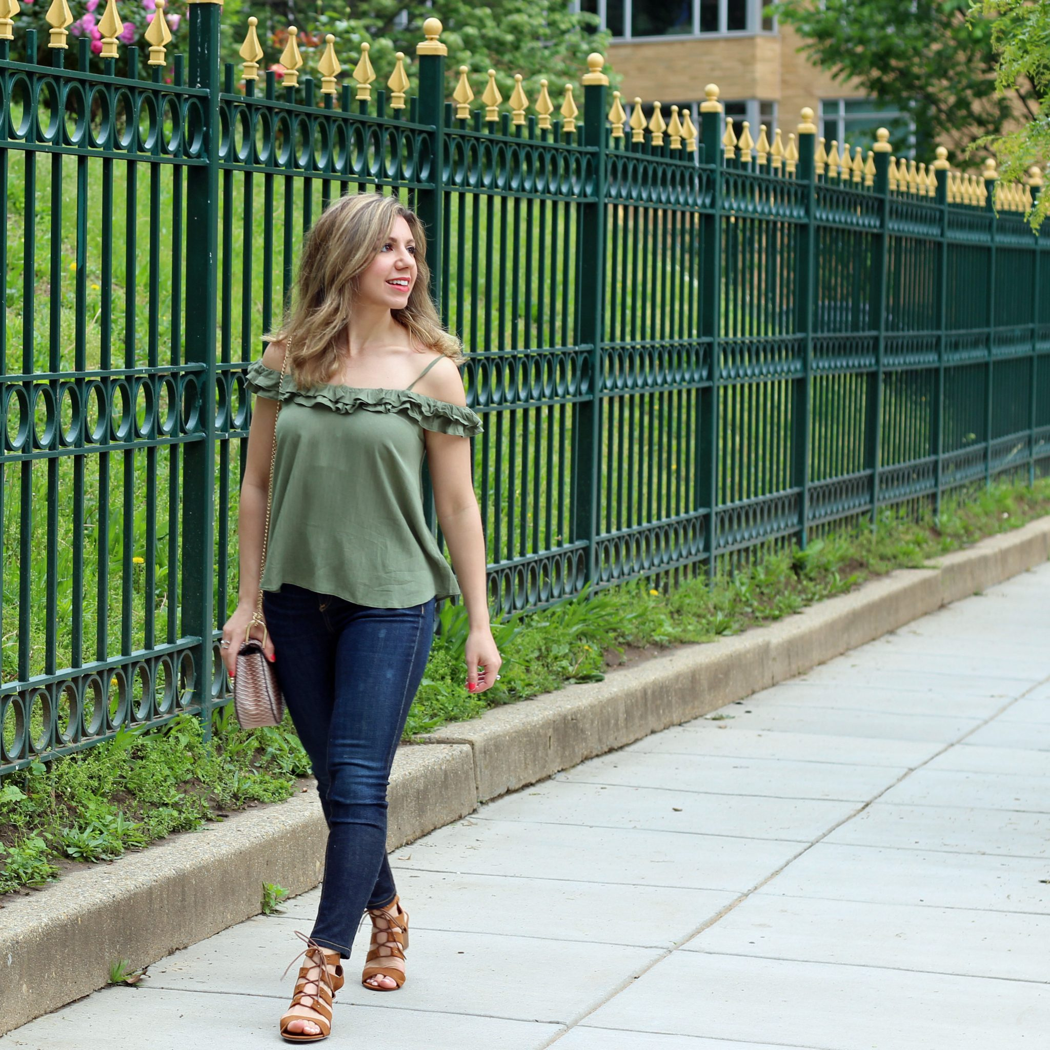 Green Ruffle Top | Glass of Glam