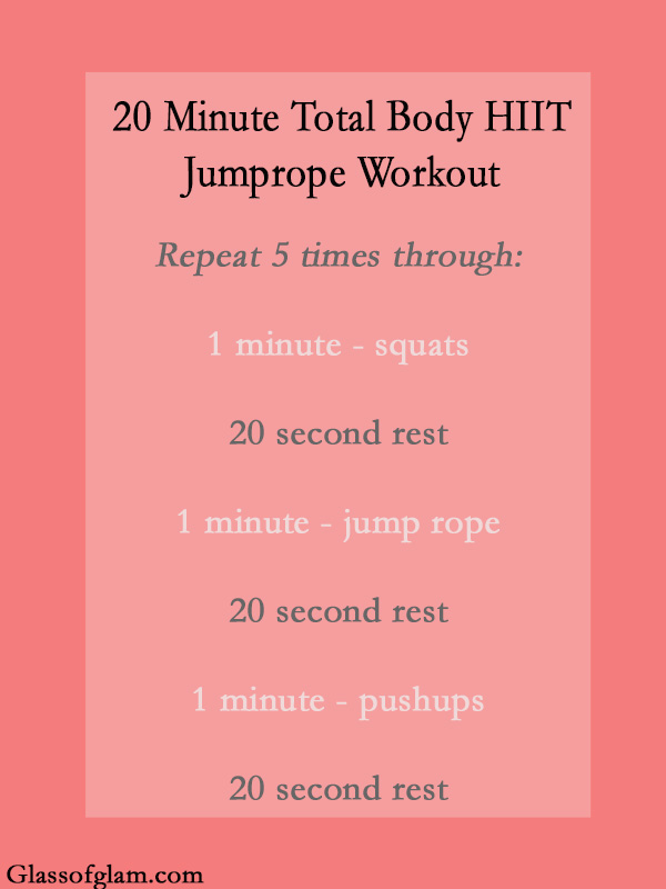 HIIT Jump Rope Workout | Glass of Glam