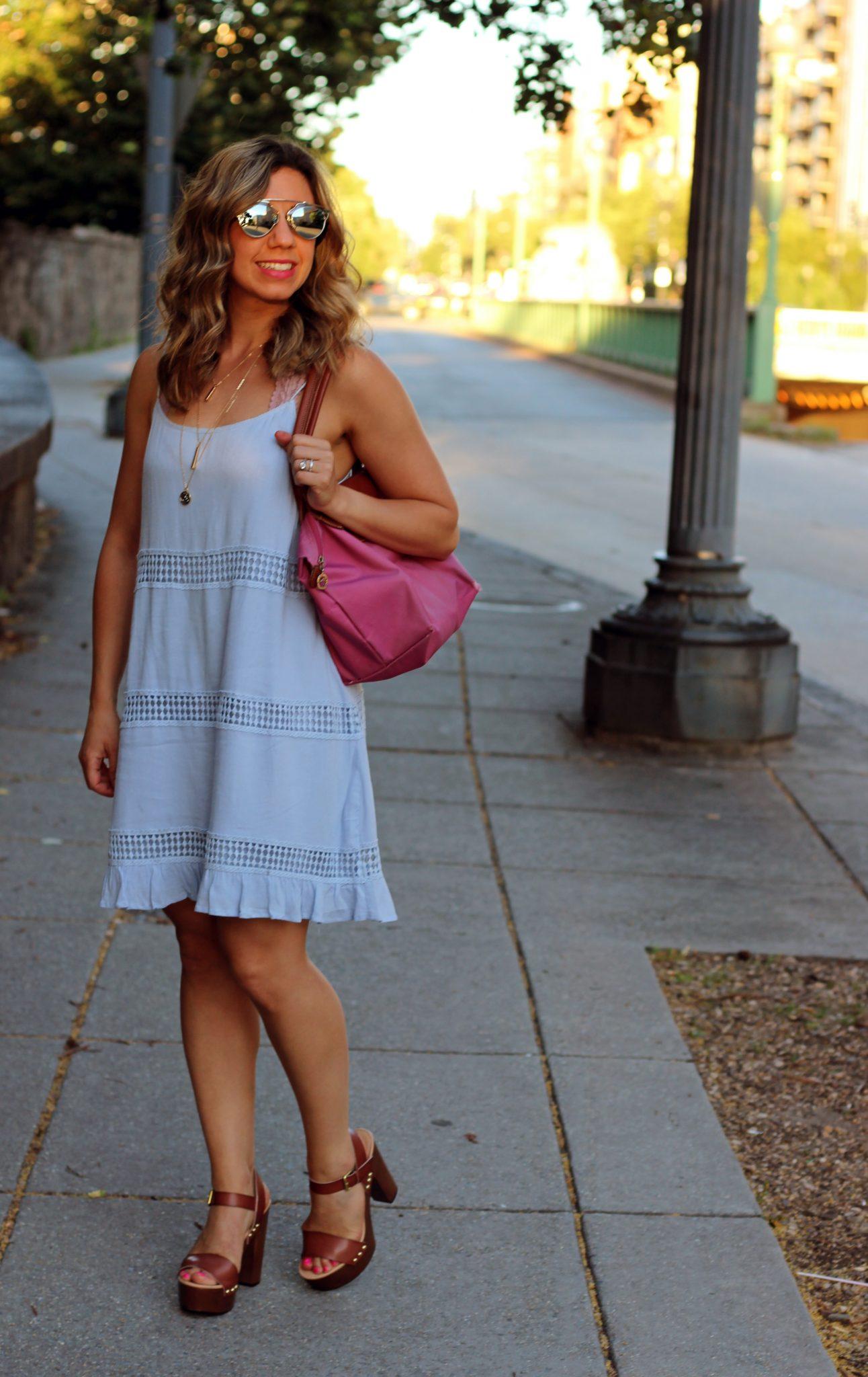 Blue Crochet Cami Dress | Glass of Glam