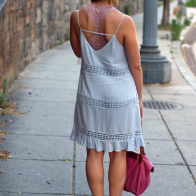 Feeling Blue: Crochet Cami Dress