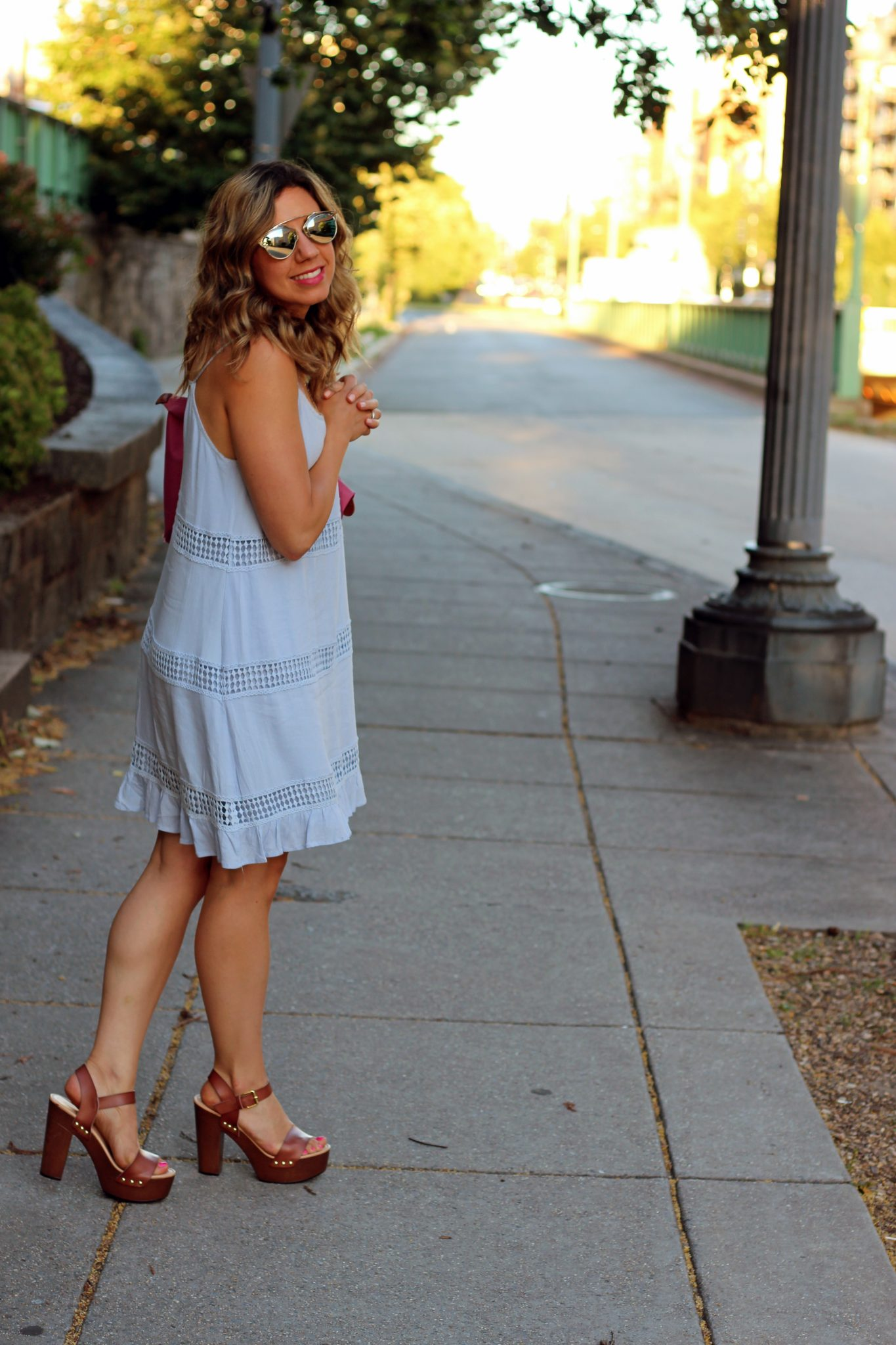 Blue Crochet Cami Dress | Glass of Glam
