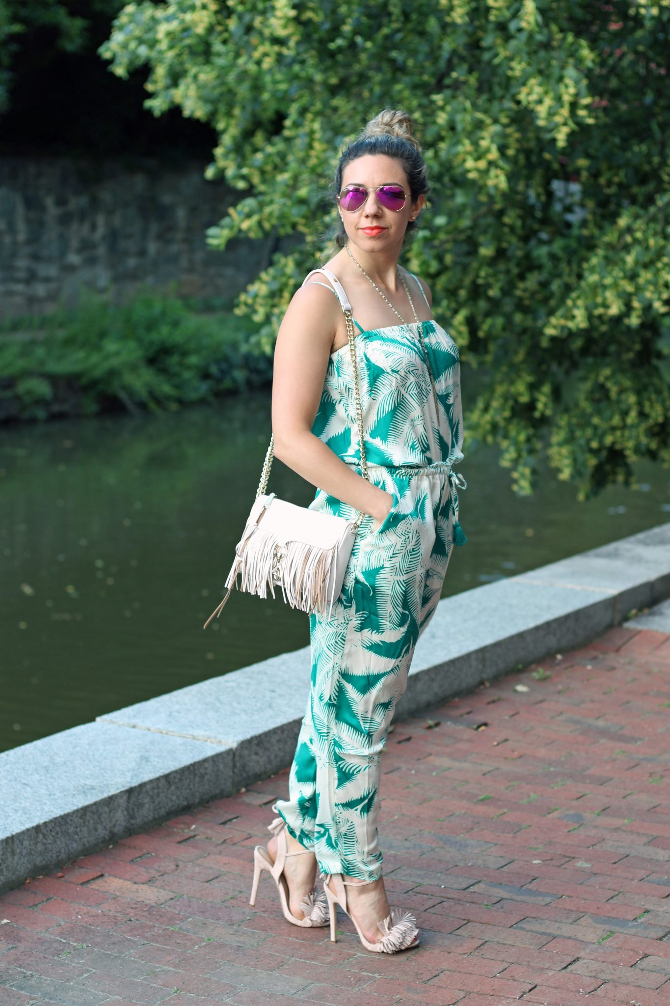 Palm Jumpsuit | Glass of Glam
