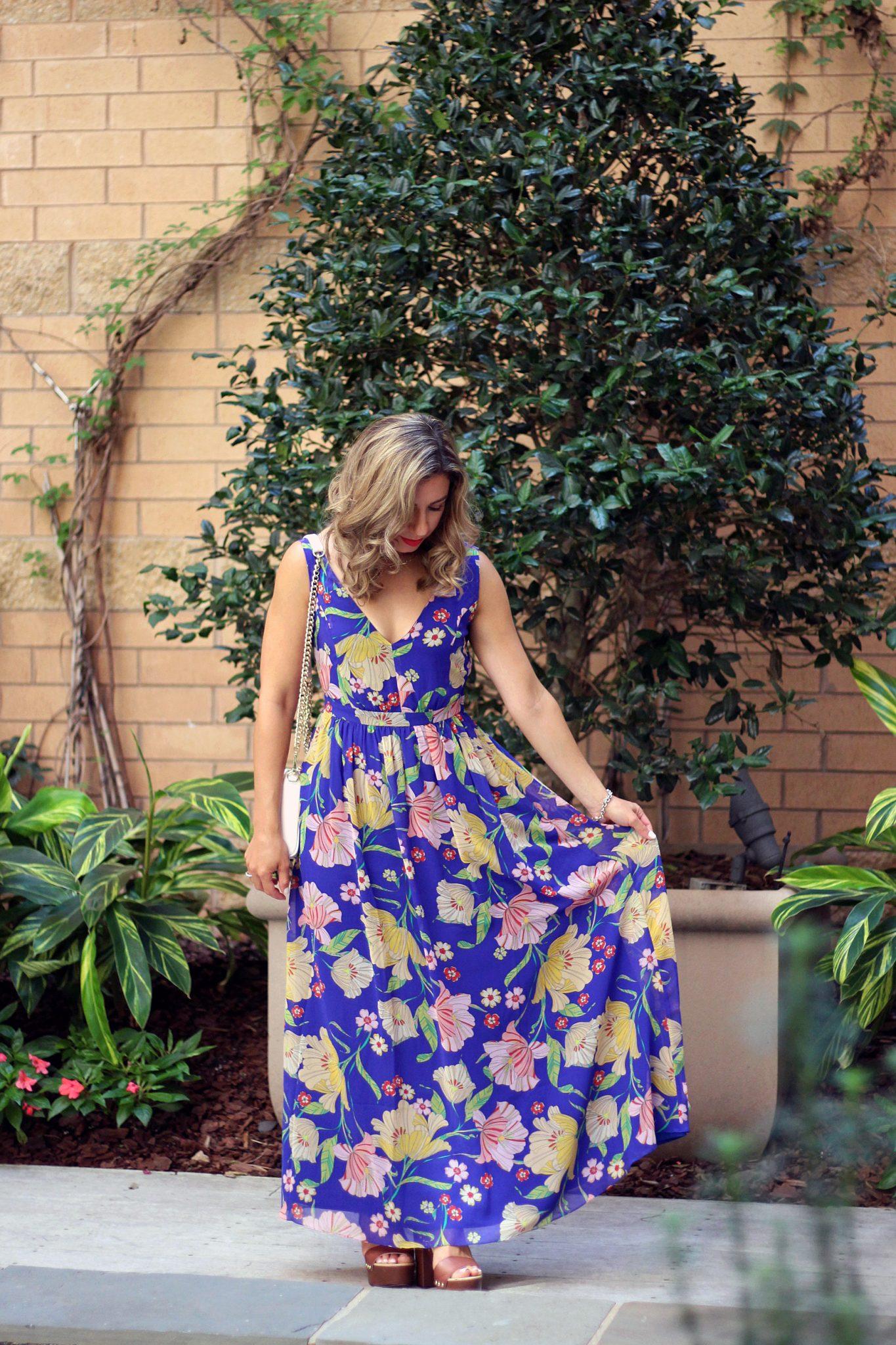 Modcloth Floral Maxi 7