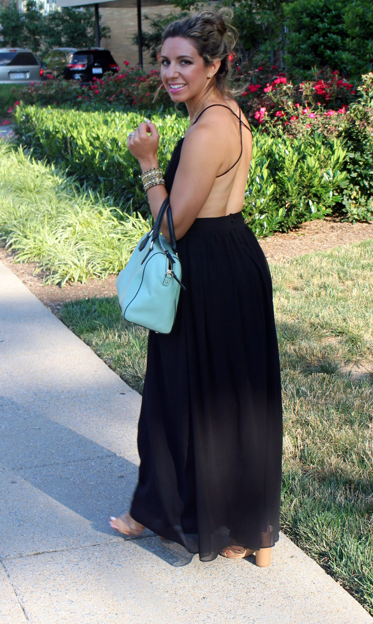 Black Cutout Maxi | Glass of Glam