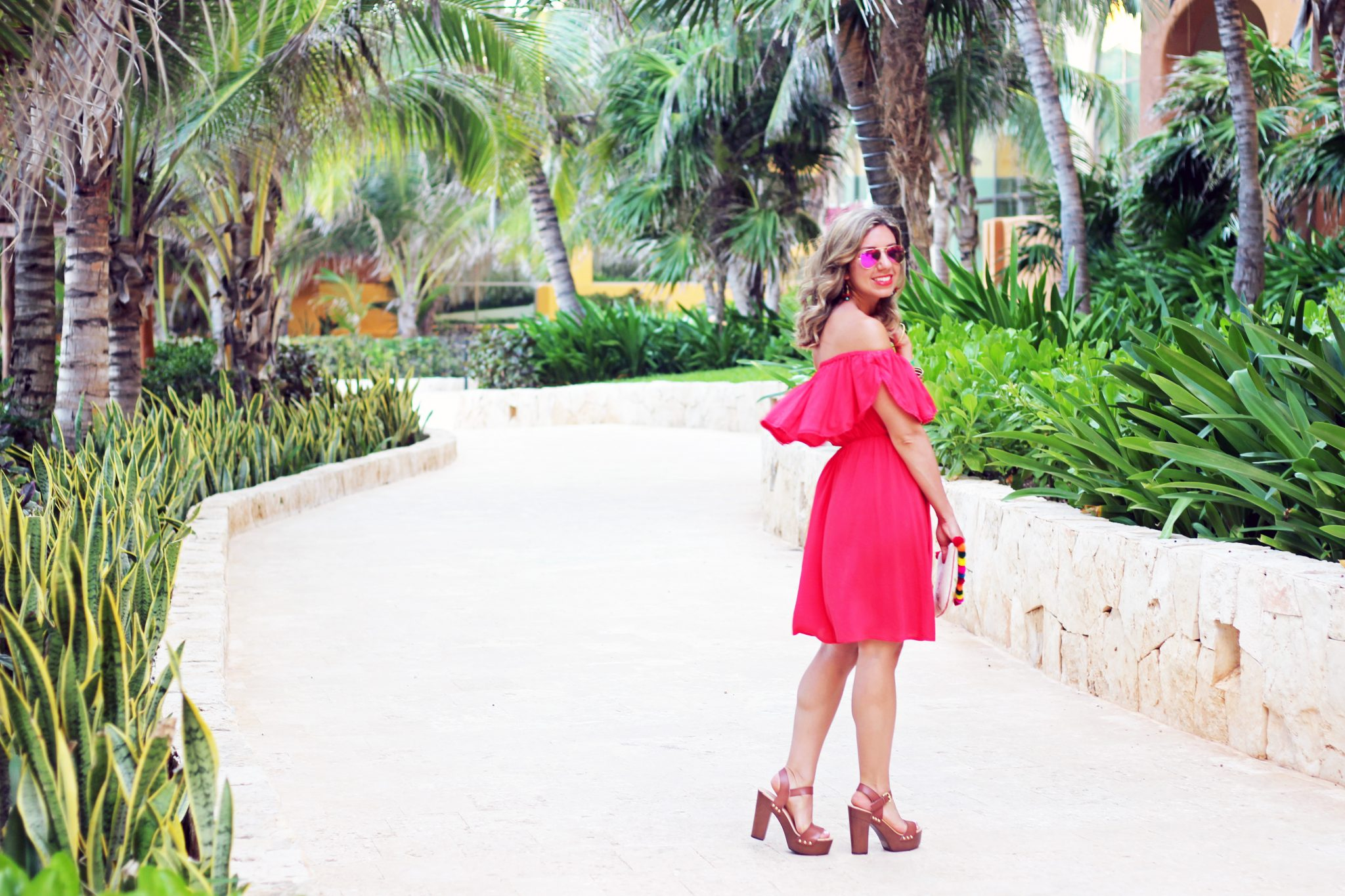 Red Off Shoulder Dress | Glass of Glam