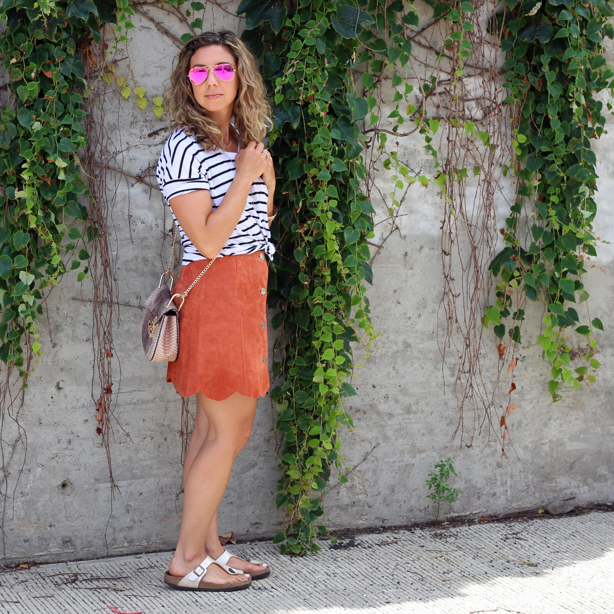 Suede Skirt | Glass of Glam