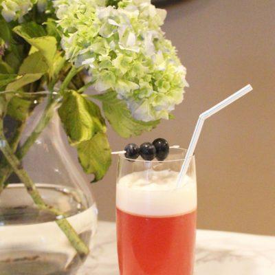 Weekly Refreshment: Blackberry Orange Gin Fizz