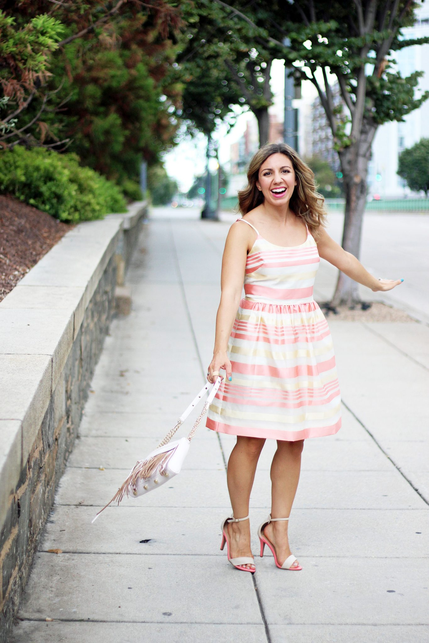 Rose Candy Stripe Dress