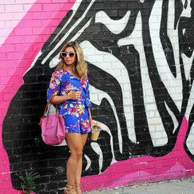 High C: A Floral Romper at the Union Market Murals