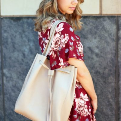 Burgundy Floral Romper and How to Survive the Heat