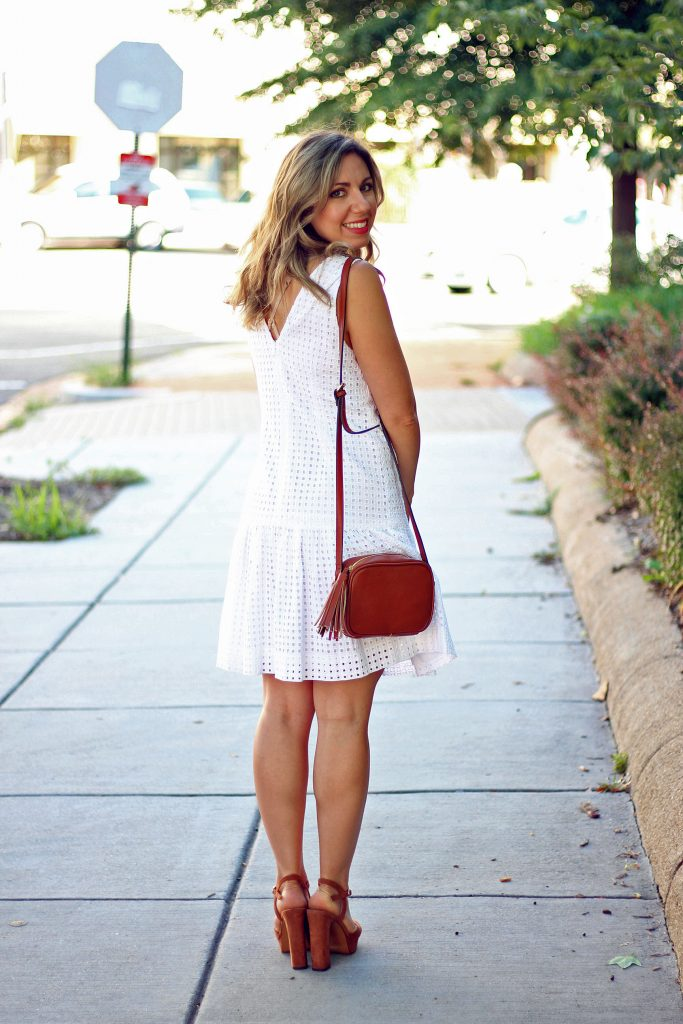 Eyelet Little White Dress & Thursday Moda Link-Up via GlassofGlam.com