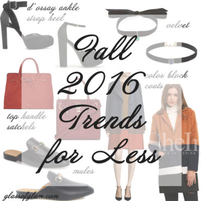 Friday Fizz: Five Fall Trends for Less