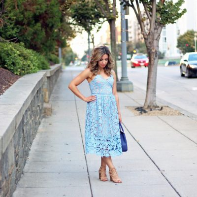 A Fancy Blue Lace Dress For our First Anniversary