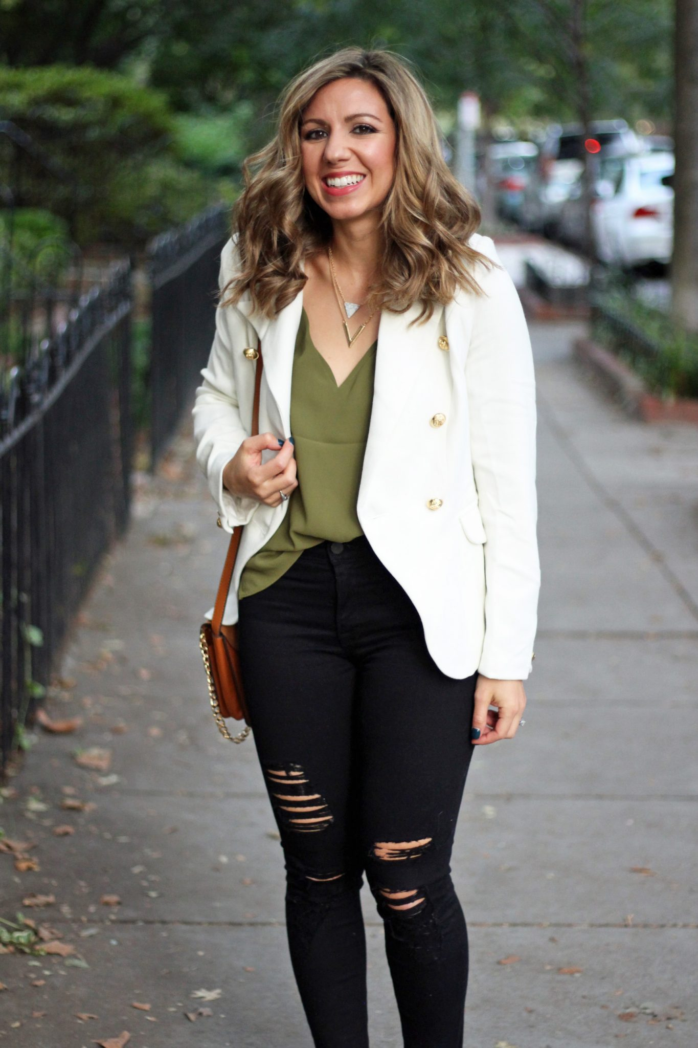 White Blazer for Date Night and Zaful Accessories