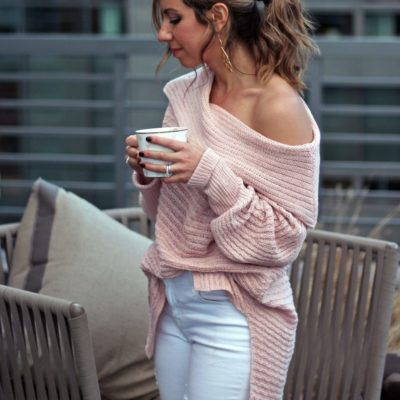 Hot Chocolate: A Pink Off the Shoulder Sweater