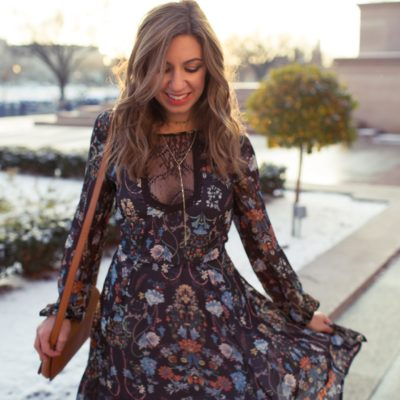 A Floral & Lace SugarLips Dress