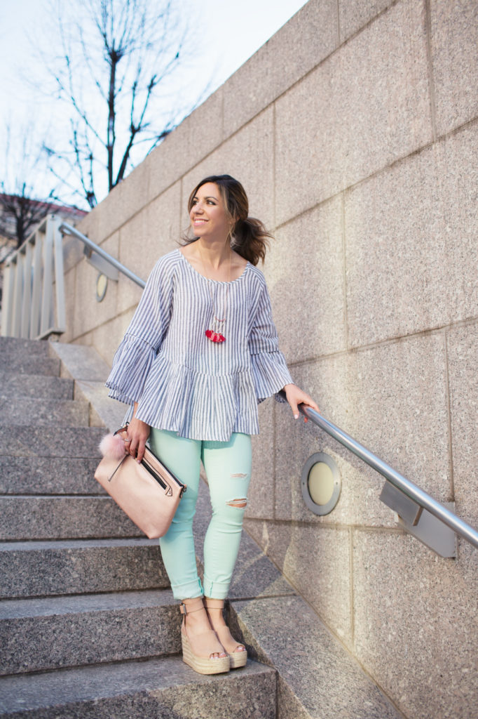 Lifestyle blogger Roxanne of Glass of Glam in Shop the Mint