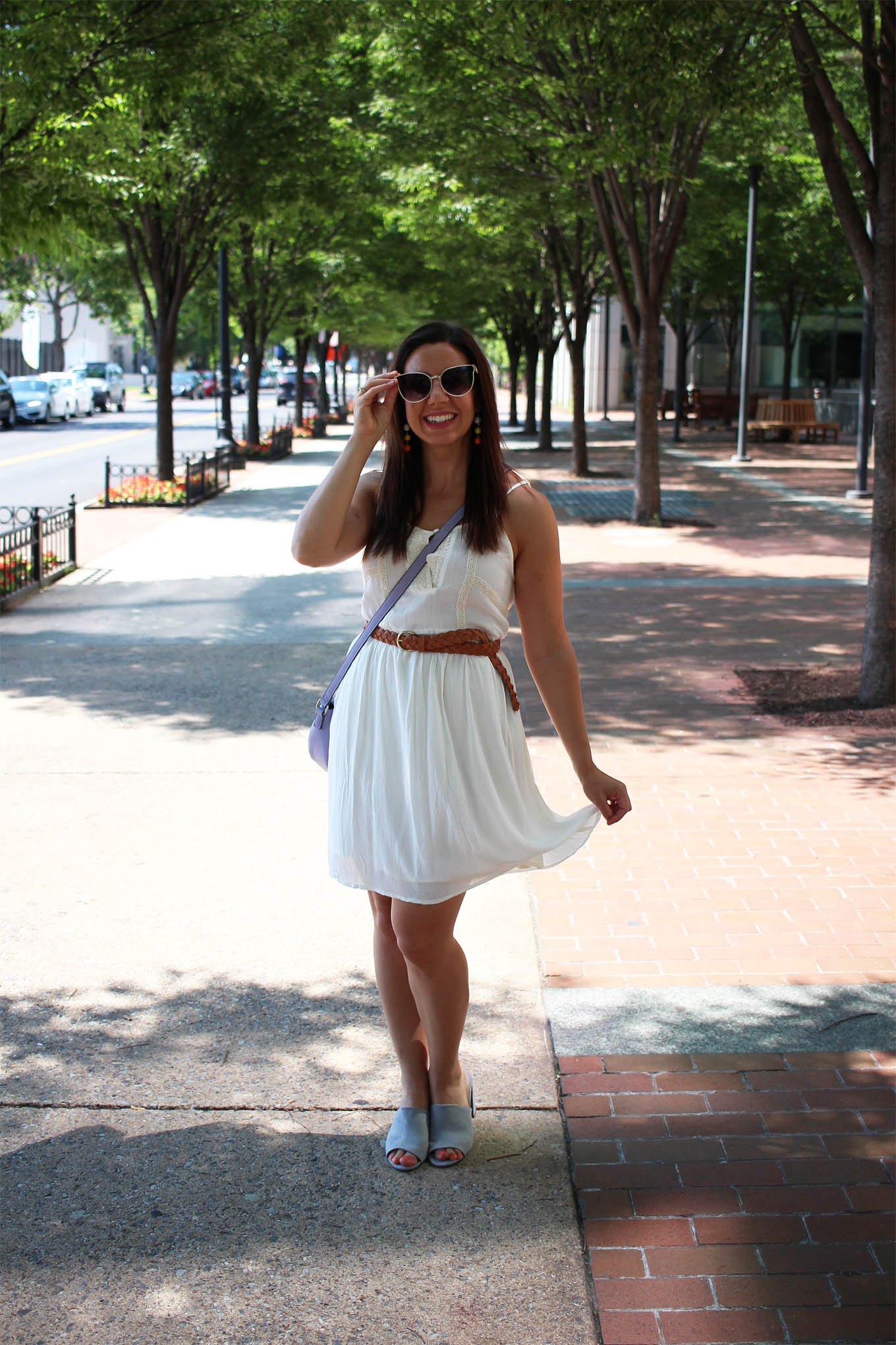 Lifestyle blogger Roxanne of Glass of Glam wearing a Jane.com outfit and a Gucci Marmont giveaway