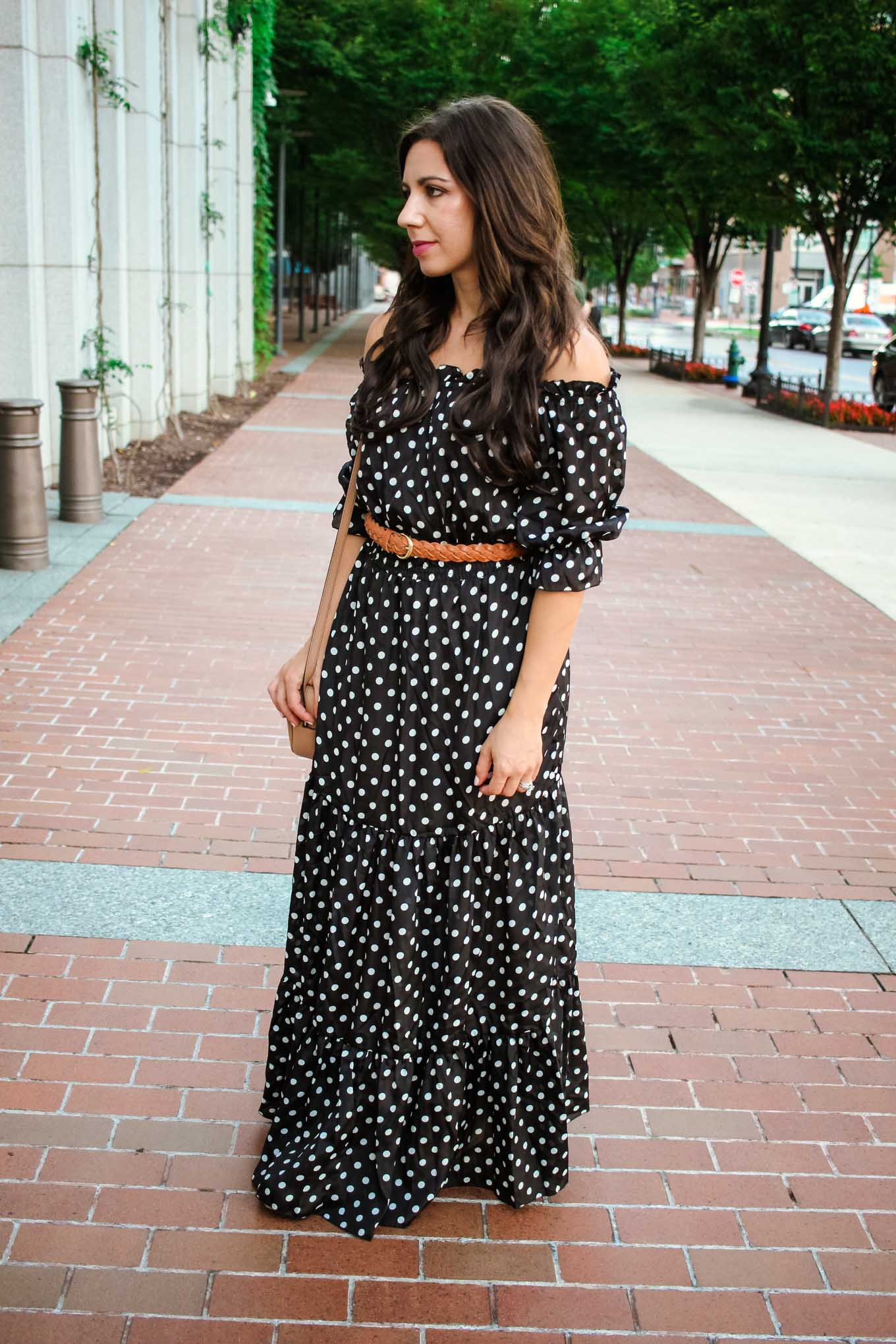 lifestyle blogger Roxanne of Glass of Glam wearing a Shein Maxi dress and Lux Beauty Club hair extensions - Maxi Hair Extensions by popular Chicago fashion blogger Glass of Glam