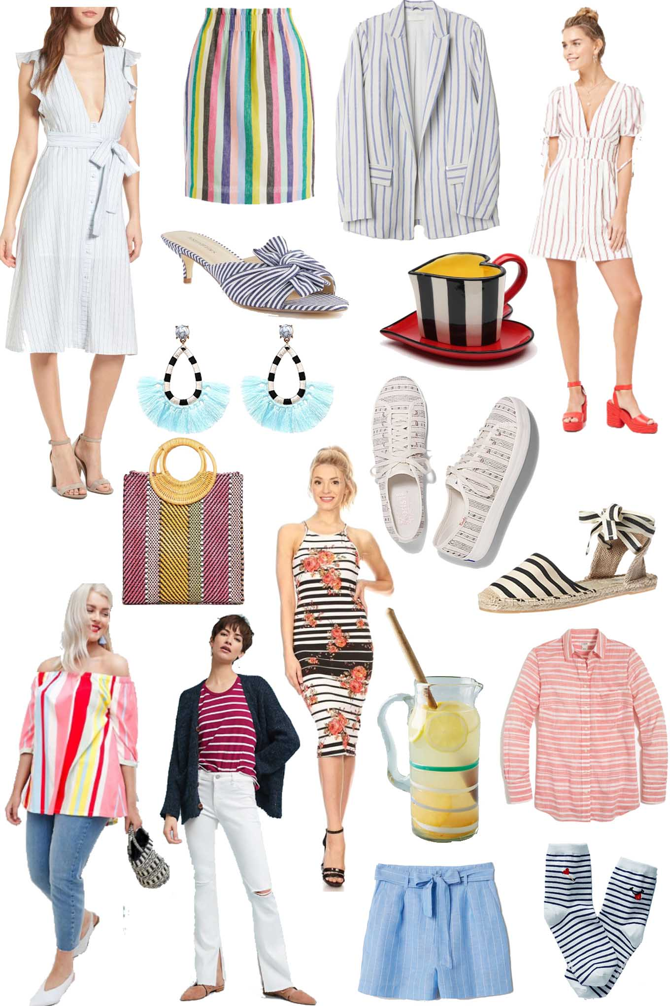 Friday Fizz: Springy, Striped Clothing Under $60 featured by Chicago Fashion blogger, Glass of Glam