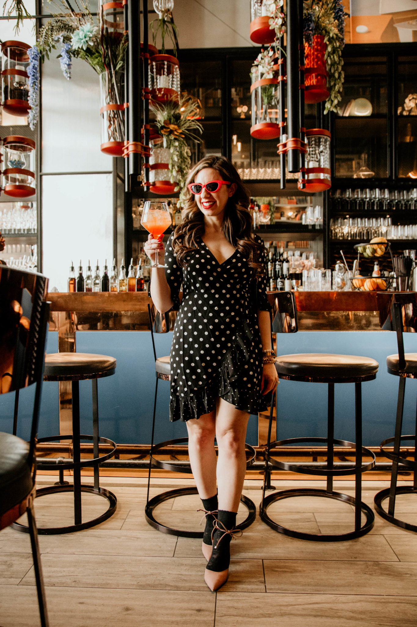The Best Polka Dot Dress & On Mondays We Link Up featured by popular Chicago fashion blogger, Glass of Glam