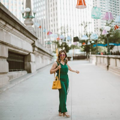 Green Jumpsuit & On Mondays We Link Up (#74)