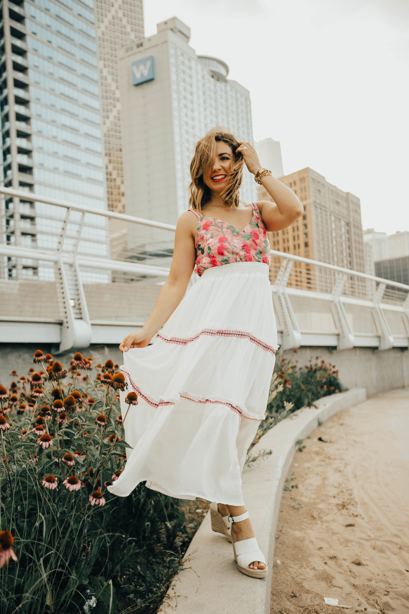 Jump Into The Dead Flowers | Floral Embroidered Dress & On Mondays We Link Up (#76) featured by popular Chicago fashion blogger Glass of Glam