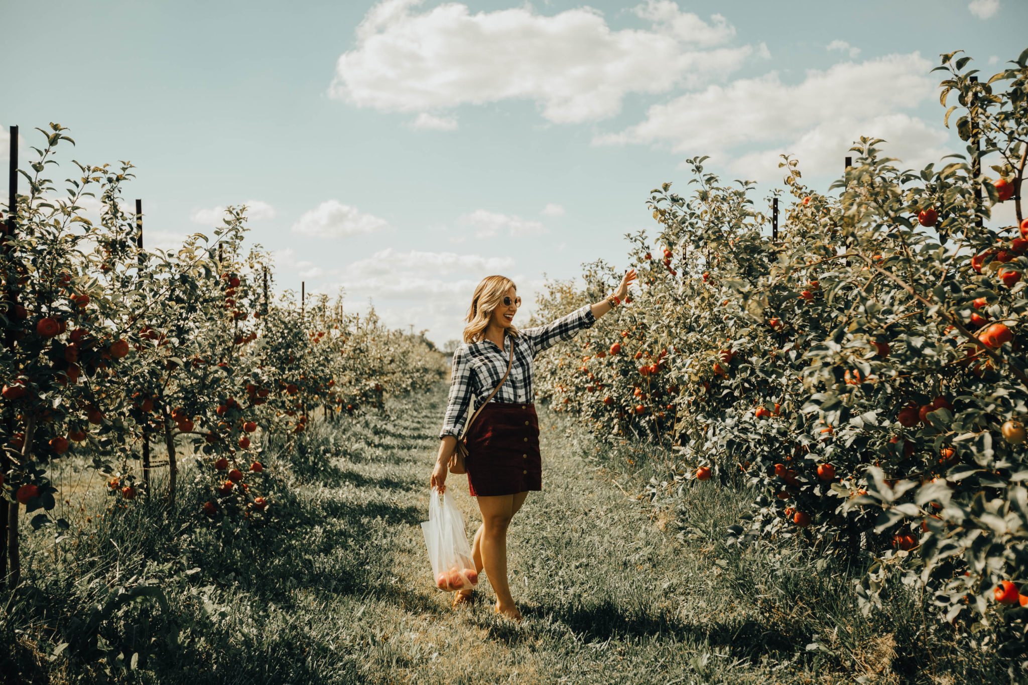 Apple Picking In Indiana featured by top Chicago travel blog, Glass of Glam