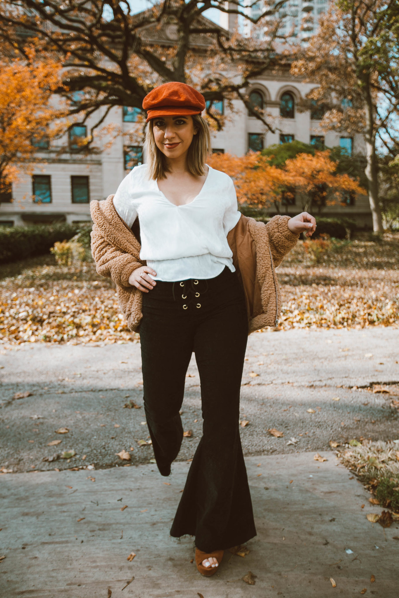 e8e8da4e4a Black Bell Bottoms and 70s style featured by top Chicago fashion blog