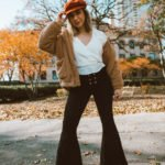 A Little 70s Retro Flare with Black Bell Bottoms