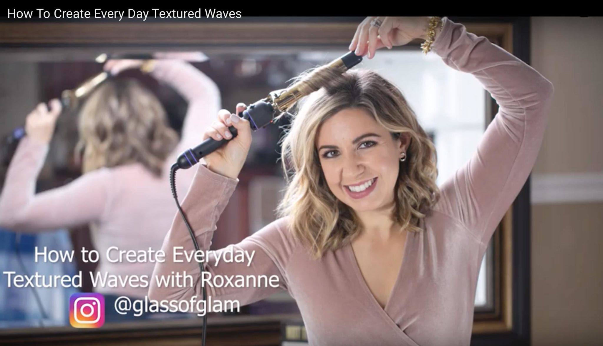 How To Create Everyday Textured Waves featured by top Chicago beauty blog, Glass of Glam