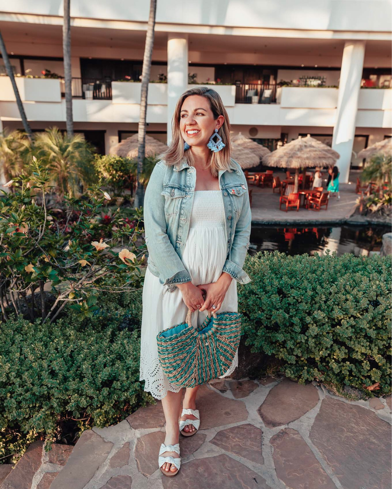 Maui Packing List and outfit round up featured by top US fashion blog, Glass of Glam: image of a woman wearing an Ingrid and Isabel dress