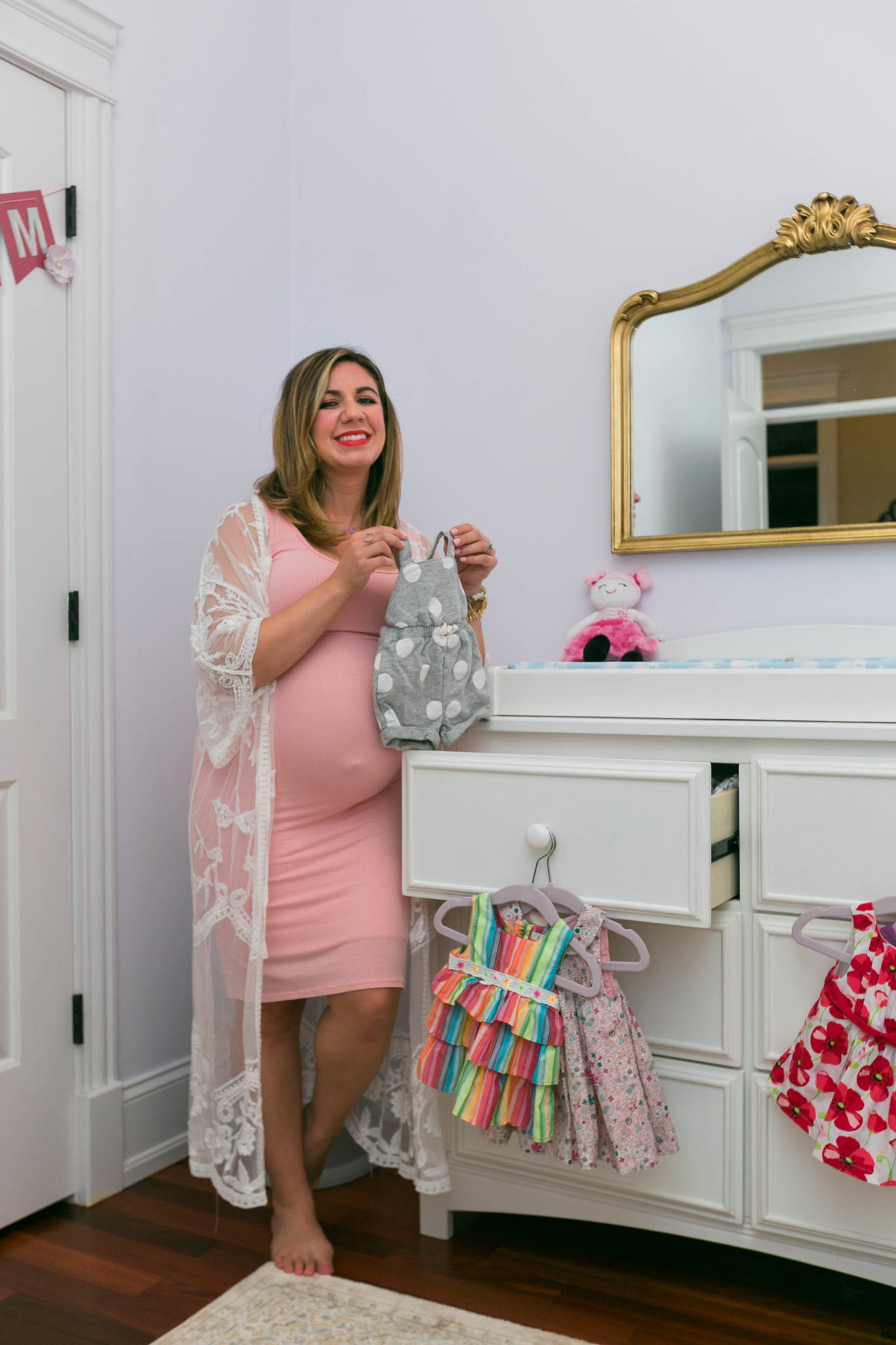 Baby girl Nursery reveal featured by top US life and style blog, Glass of Glam