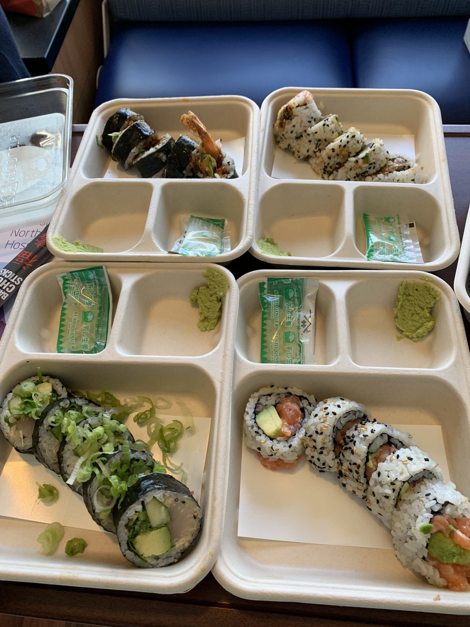 Baby Girl Birth Story: Welcome Sidney Eileen! by popular life and style blog, Glass of Glam: image of various sushi rolls.
