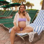 Cute Beach Maternity Outfit & On Mondays We Link Up (#125)
