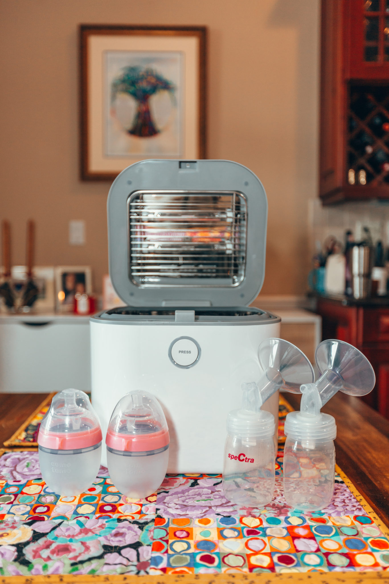 Coral UV Sanitizer review featured by top US mom blog, Glass of Glam