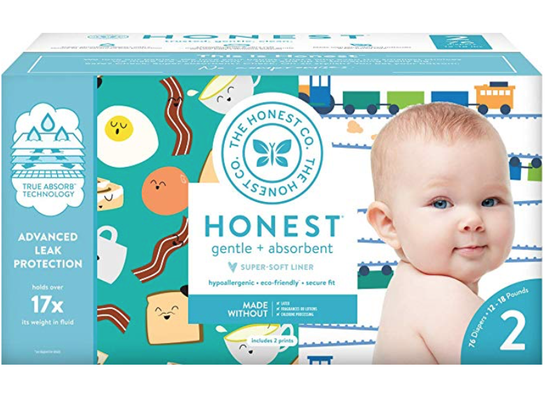 6 Month Old Baby Must Haves by popular Chicago lifestyle blog, Glass of Glam: image of Honest diapers.
