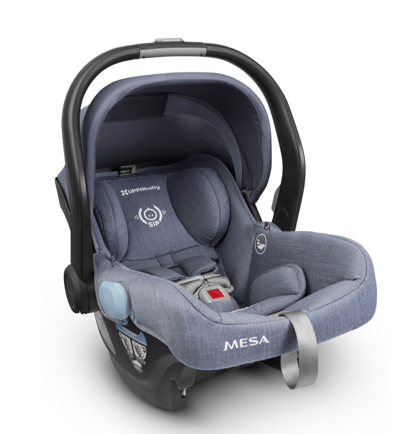 6 Month Old Baby Must Haves by popular Chicago lifestyle blog, Glass of Glam: image of a Mesa carseat.