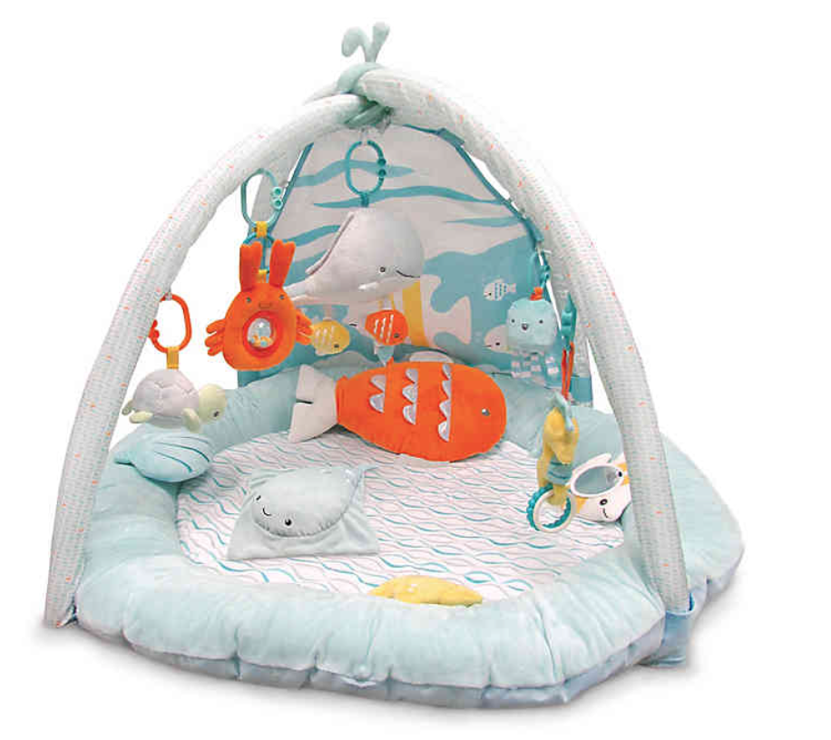 6 Month Old Baby Must Haves by popular Chicago lifestyle blog, Glass of Glam: image of a play gym.