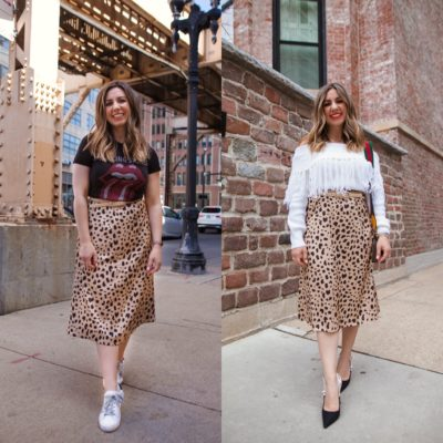 One $30 Amazon Leopard Skirt, Styled Two Ways